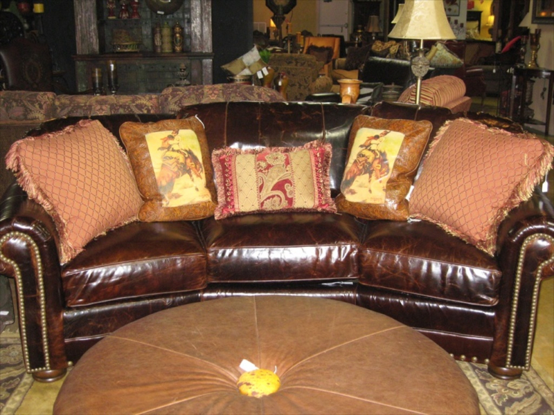 Leather Conversational Sofa #10840